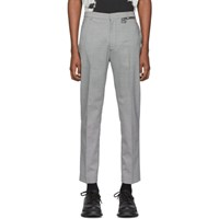 Cmmn Swdn Black And White Wool Samson Trousers