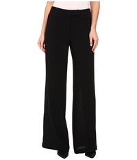 Adrianna Papell Wide Leg Gauzy Crepe Pant Black Women's Casual Pants
