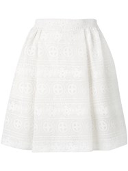 Red Valentino Elasticated Waist A Line Skirt White