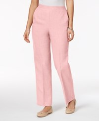 Alfred Dunner Rose Hill Pull On Pants Blush