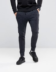 Religion Joggers In Flecked Jersey With Zip Opening Black