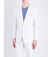 Gieves And Hawkes Regular Fit Linen Silk Blend Jacket White