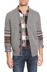 Eddie Bauer 'Deer Valley Ilaria Urbinati Collection' Trim Fit Fair Isle Button Front Cardigan Grey Heather
