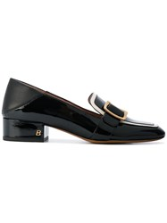 Bally Buckled Loafers Women Leather 39.5 Black