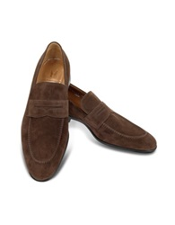 Moreschi Izmir Brown Suede Loafers