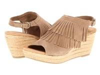 Minnetonka Ashley Taupe Suede Women's Wedge Shoes