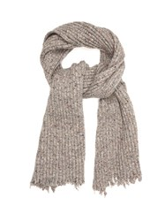 Damir Doma Ampere Ribbed Knit Scarf Grey