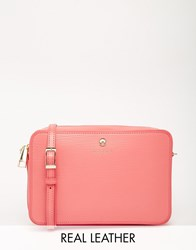 Modalu Leather Cross Body Bag Pink