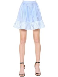 Copurs Ruffled Cotton Poplin Skirt