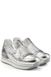 Hogan Leather Sneakers With Platform