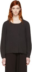 Raquel Allegra Black Boxy Day Blouse