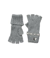 Betsey Johnson On The Rocks Half Finger Gloves Grey Dress Gloves Gray