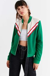 Urban Outfitters Uo Piper Striped Track Jacket Green