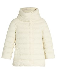 Herno Funnel Neck Down Filled Jacket White