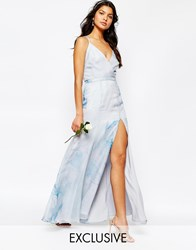 Fame And Partners Deco Lily Maxi Dress With Strap Back Multi