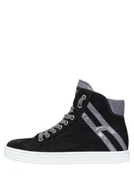 Hogan Rebel 50Mm Suede And Lace Sneakers