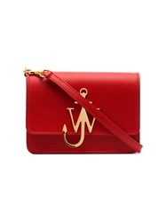 J.W.Anderson Jw Anderson Scarlet Red Mini Logo Embellished Leather Crossbody Bag