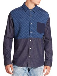 Prps Two Tone Quilted Shirt Indigo