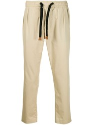 Dolce And Gabbana Elasticated Chinos Neutrals