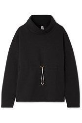 Varley Barton Cotton Blend Jersey Sweatshirt Black