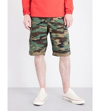 Tommy Jeans 90S Camouflage Print Cotton Cargo Shorts Camo Print Multi