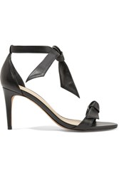 Alexandre Birman Patty Bow Embellished Leather Sandals Black