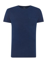 Linea Harvey Crew Neck T Shirt Indigo