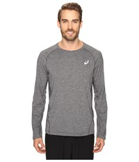 Asics Mesh Long Sleeve Crew Performance Black Men's Clothing