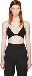 Saint Laurent Black Crepe De Chine Bra