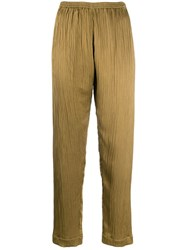 Forte Forte Micro Pleated Trousers Green