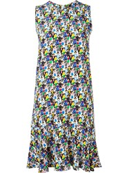 Peter Jensen Frill Hem Printed Dress Multicolour