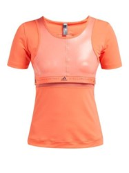 Adidas By Stella Mccartney Run Scoop Neck T Shirt Orange
