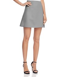 Theory Irenah Saxton Mini Skirt Grey