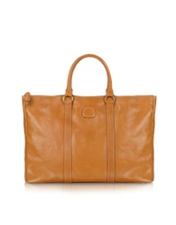 Bric's Life Leather East West Tote Bag Brown