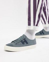 Huf Hupper 2 Lo Suede Trainers In Blue