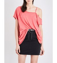 Free People Coraline Jersey T Shirt Red