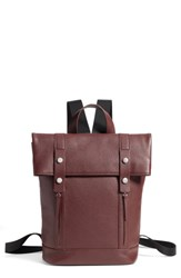 Treasure And Bond Remy Pebbled Leather Backpack Burgundy Burgundy Fig