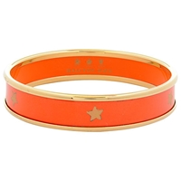 Halcyon Days 18Ct Gold Plated Gold Star Small Bangle Orange