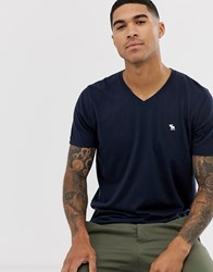 Abercrombie And Fitch Icon Logo Vneck T Shirt In Navy