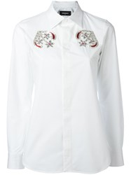 Dsquared2 Floral Beaded Shirt White