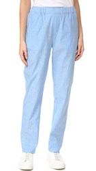 Baja East Striped Pants Malibu Blue