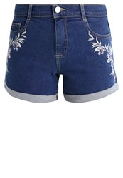 Dorothy Perkins Daisy Denim Shorts Light Wash White