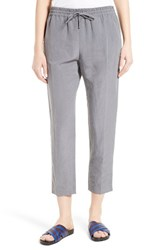 Joseph Women's Louna Linen And Silk Crop Pants Smoke