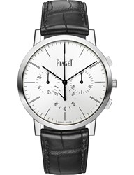 Piaget G0a41035 Altiplano White Gold Chronograph Watch