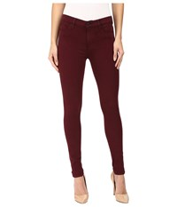 Hudson Nico Mid Rise Ankle Skinny In Cabernet Cabernet Women's Jeans Burgundy