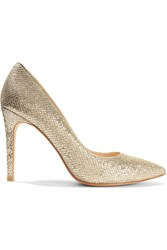 Lucy Choi London Goldstone Glittered Leather Pumps Metallic