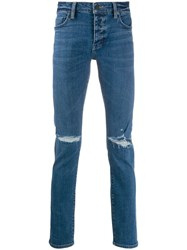 Neuw Ripped Slim Fit Jeans Blue