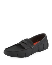 Swims Mesh And Rubber Penny Loafer Black