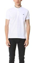 The Kooples Sport Grosgrain Officer Collar Polo White