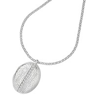 Dower And Hall Large Sterling Silver Large Round Sapphire Locket Silver Blue